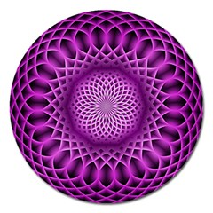 Swirling Dreams, Hot Pink Magnet 5  (round) by MoreColorsinLife