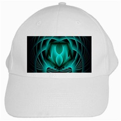 Swirling Dreams, Teal White Cap by MoreColorsinLife