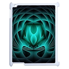 Swirling Dreams, Teal Apple iPad 2 Case (White) by MoreColorsinLife
