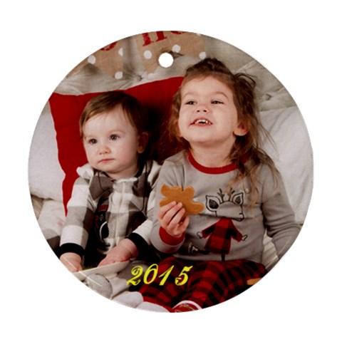 Xmas 2015 Adam By Sigrid   Ornament (round)   49aqamhbb0a7   Www Artscow Com Front