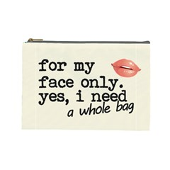 Face Only Cosmetic Bag (large) by maemae