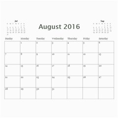 2016 Calendar By Christine   Wall Calendar 11  X 8 5  (12 Months)   Vi713qn183v0   Www Artscow Com Aug 2016