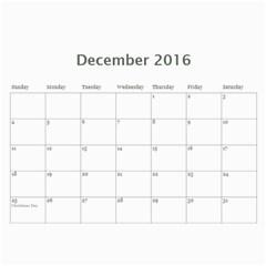 2016 Calendar By Christine   Wall Calendar 11  X 8 5  (12 Months)   Vi713qn183v0   Www Artscow Com Dec 2016