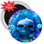 Skull Worship 3  Magnets (10 pack)
