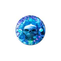 Skull Worship Golf Ball Marker by icarusismartdesigns