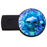 Skull Worship USB Flash Drive Round (2 GB)