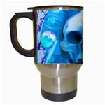 Skull Worship Travel Mugs (White)