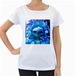 Skull Worship Women s Loose-Fit T-Shirt (White)