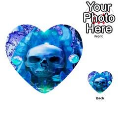 Skull Worship Multi Purpose Cards (heart)  by icarusismartdesigns