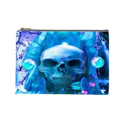 Skull Worship Cosmetic Bag (large)  by icarusismartdesigns