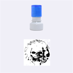 Skull Worship Rubber Round Stamps (small) by icarusismartdesigns