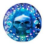 Skull Worship Round Filigree Ornament (2Side)