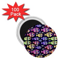 Colorful Fishes Pattern Design 1 75  Magnets (100 Pack)  by dflcprints