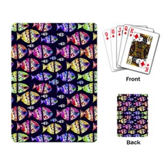 Colorful Fishes Pattern Design Playing Card by dflcprints