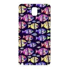 Colorful Fishes Pattern Design Samsung Galaxy Note 3 N9005 Hardshell Back Case by dflcprints