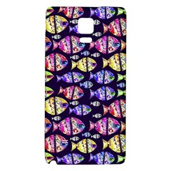 Colorful Fishes Pattern Design Galaxy Note 4 Back Case by dflcprints