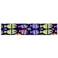 Colorful Fishes Pattern Design Flano Scarf (small)  by dflcprints