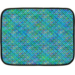 Mermaid Scales Mini Fleece Blanket (single Sided) by Ellador