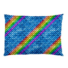 Rainbow Scales Pillow Case (Two Sides) by Ellador