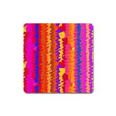 Colorful Pieces Magnet (square) by LalyLauraFLM