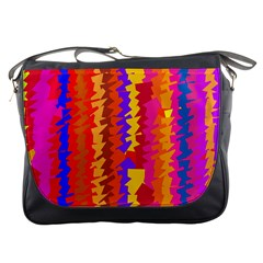 Colorful Pieces Messenger Bag by LalyLauraFLM