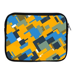 Blue Yellow Shapes Apple Ipad 2/3/4 Zipper Case by LalyLauraFLM