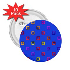 3d Squares On A Blue Background 2 25  Button (10 Pack) by LalyLauraFLM