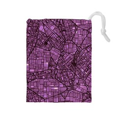 Fantasy City Maps 4 Drawstring Pouches (Large)  by MoreColorsinLife