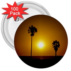 Sunset Scene At The Coast Of Montevideo Uruguay 3  Buttons (100 Pack)  by dflcprints