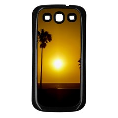Sunset Scene At The Coast Of Montevideo Uruguay Samsung Galaxy S3 Back Case (black) by dflcprints