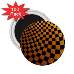 Abstract Square Checkers  2 25  Magnets (100 Pack)  by OZMedia
