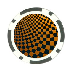 Abstract Square Checkers  Poker Chip Card Guards (10 Pack)  by OZMedia