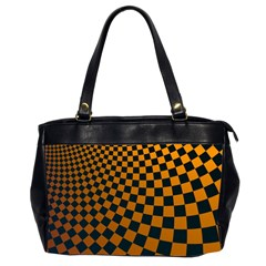 Abstract Square Checkers  Office Handbags (2 Sides)  by OZMedia