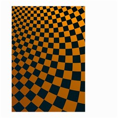 Abstract Square Checkers  Small Garden Flag (two Sides) by OZMedia