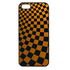 Abstract Square Checkers  Apple Iphone 5 Seamless Case (black) by OZMedia