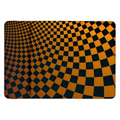Abstract Square Checkers  Samsung Galaxy Tab 8 9  P7300 Flip Case by OZMedia