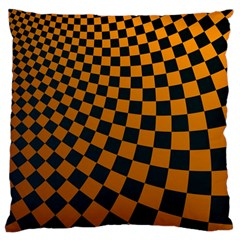 Abstract Square Checkers  Standard Flano Cushion Cases (one Side)  by OZMedia