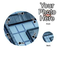 Abstract View Of Modern Buildings Playing Cards 54 (round)  by OZMedia