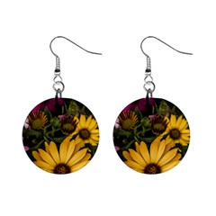 Beautiful Colourful African Daisies  Mini Button Earrings by OZMedia