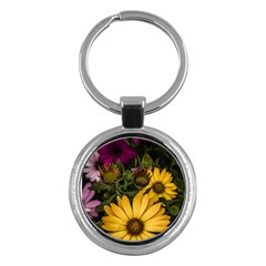 Beautiful Colourful African Daisies  Key Chains (Round)  by OZMedia