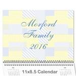 2016 calendar DONE - Wall Calendar 11  x 8.5  (12-Months)
