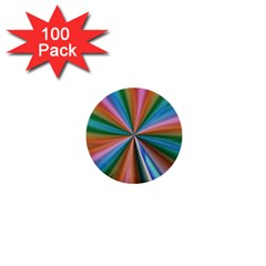 Abstract Rainbow 1  Mini Buttons (100 Pack)  by OZMedia