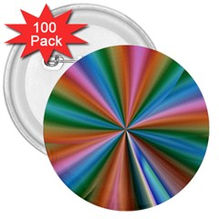 Abstract Rainbow 3  Buttons (100 pack)  by OZMedia