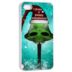 I Wish You A Merry Christmas, Funny Skull Mushrooms Apple Iphone 4/4s Seamless Case (white) by FantasyWorld7