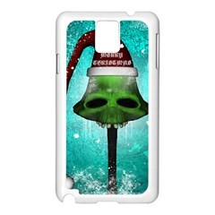 I Wish You A Merry Christmas, Funny Skull Mushrooms Samsung Galaxy Note 3 N9005 Case (white) by FantasyWorld7