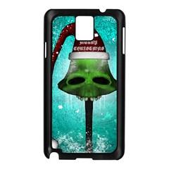 I Wish You A Merry Christmas, Funny Skull Mushrooms Samsung Galaxy Note 3 N9005 Case (black) by FantasyWorld7