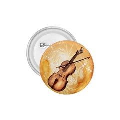 Wonderful Violin With Violin Bow On Soft Background 1 75  Buttons by FantasyWorld7