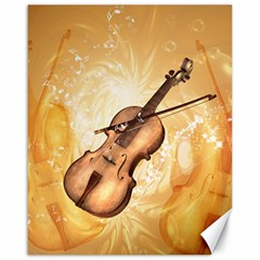 Wonderful Violin With Violin Bow On Soft Background Canvas 16  x 20   by FantasyWorld7