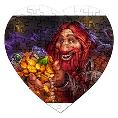 Hearthstone Gold Jigsaw Puzzle (heart) by HearthstoneFunny