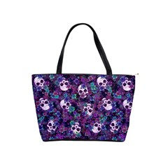 Flowers and Skulls Large Shoulder Bag by Ellador